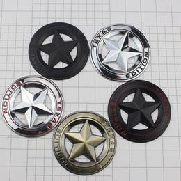 Grande decorazione online-Adesivi per auto con stella a cinque punte in metallo 3D Decorazione per styling auto per grand cherokee Bussola Wrangler TEXAS EDITION HHA100