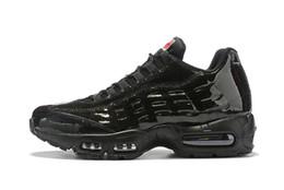 chaussures 95 Nuove delle donne degli uomini Classic Nero Rosso Bianco Trainer sport superficie del cuscino d'aria traspirante scarpe da tennis scarpe da corsa 36-46 C00319dd # da