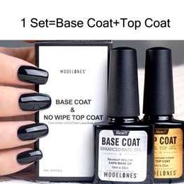 2 Pz / lotto Nail Kit 10ML Base Top Coat Set Nail Gel Polish Long Lasting da