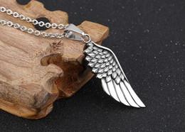 collar de alas de águila Rebajas Collar colgante de alas de ángel - Ala de águila de plumas de acero inoxidable para hombre para mujer Diseñador de collares Joyería de hip hop