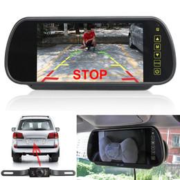 2019 espelho traseiro lcd 7in LCD Monitor Espelho + Visão Traseira Reversa Sem Fio Câmera de Backup de Visão Noturna TFT-LCD MONITOR de TELA WATERPROOF @ 20 desconto espelho traseiro lcd