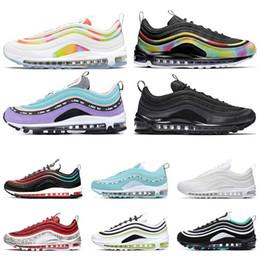 Nike Air max 97 2020 Laufschuhe 97 TIE DYE Tatum Court lila NEON SEOUL Triple Weiß Schwarz Männer Frauen Trainer Sport Turnschuh Größe 36 45