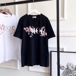T-shirt in cotone a maniche corte sfoderata da donna da