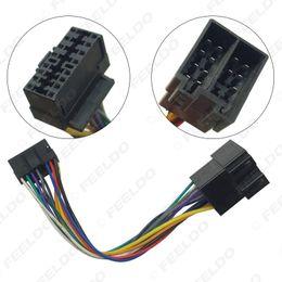 Cableado del conector iso online-Adaptador de arnés de cables de radio estéreo para automóvil para el conector de 16 pines de Sony en la radio al conector ISO 10487 en el automóvil # 5675