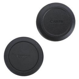 casquillos centrales a presión Rebajas 2 piezas de ABS cubierta del cuerpo de la cámara y la tapa posterior del objetivo para Canon EOS R / RP cámara, Canon RF 85 mm f / 1,2L USM y RF 50 mm f / 1,2L USM