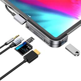2019 порты linux Baseus Многофункциональный адаптер USB C Hub 6 в 1 Конвертер USB C Hub HD PD Зарядка USB 3.0 для iPad Pro 2018