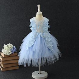 cf0ad7cbab8e4 Swan Petite Fleur Filles Robes De Mariage Bébé Anniversaire Fête Robes Sexy  Enfants Images tutu Robe Enfants Robe De Bal Robe De Soirée