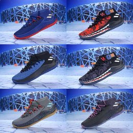 online store ea842 cb88f dame shoes Promo Codes - 2019 New Dame 4 Bap e Green Camo Man Basketball  Shoes
