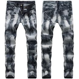 Mens straight regular fit jeans on-line-21 Estilos de Jeans Mens Dobre Calças da motocicleta Hetero Slim Fit Europa e América rasgado Buraco Lavados Moda Calças Calças Lápis de rua