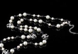 2019 collana di perle maxi La catena del maglione del collare dei monili della collana di Maxi simulato perla fiori delle donne di modo della collana regali di Bijoux Femme Natale. collana di perle maxi economici