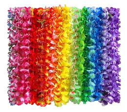 Fascia fiore hawaii online-Ghirlande di collana hawaiana del fiore bambini adulti tropicale ghirlanda di luau ghirlanda festa a tema favori fasce vacanza matrimonio spiaggia arredamento di compleanno