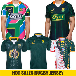 t shirts mots Promotion 2020 Afrique du Sud Sevens Jersey de rugby Word Coupe Signature Edition Champion Version commune Mens Jersey Team National Team Polo Jerseys Shirts