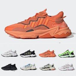 2020 zapatos casuales Negrita orgullo Naranja Xeno Ozweego Para Hombres Mujeres verde de neón solares amarillo de Halloween Tonos núcleo negro