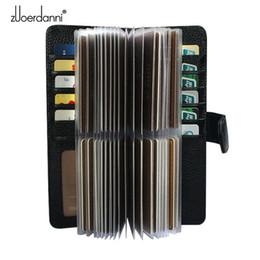52 Slots Echtes Leder Männer Visitenkartenhalter Frauen Kreditkartenetui Bank / ID-Karte Tasche Luxus Brieftasche Hohe Qualität Porte Carte Y19052202 von Fabrikanten