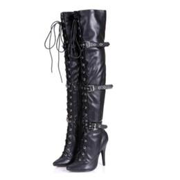 2019 au-dessus des bottes au genou Chaussures à talons hauts sexy au dessus du genou, talon de 15 cm avec pôle sexy dansant au dessus du genou promotion au-dessus des bottes au genou