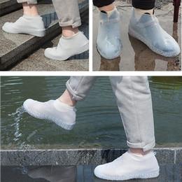 Canada Couvre-chaussures réutilisables imperméables bottes de pluie en silicone, couvre-chaussures femmes hommes anti-dérapant chaussures de protection en plein air cas accessoires Offre
