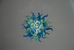 Yaratıcı Tasarım Mavi Kristal Avize Zarif Güzel El Üflemeli Cam Villa Aydınlatma Avize Yemek Odası için nereden sıcak ev elbisesi tedarikçiler