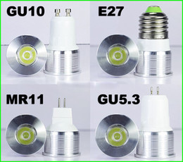 Mini führte 1w lichter online-DHL 15/20 Grad Engstrahlend Lampe dimmbar Spot Glühbirne Mini LED Scheinwerfer 1W 3W GU10 E27 MR11 MR16
