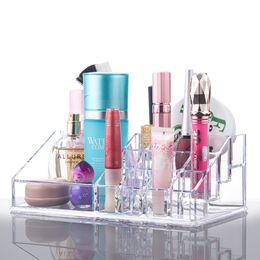 Suportes de exposição acrílicos do produto on-line-Caixa de armazenamento de maquiagem cosméticos acrílico escova batom produto de cuidados com a pele Titular Rack de maquiagem Organizador de cosméticos Display Stand
