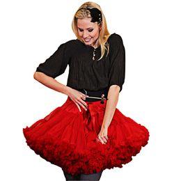 Erwachsener flauschiger rock online-Bn Custom Women (Erwachsene Größe) Pettiskirt Girls Kid (xs-xxl) Tutu Tüllrock 2 Lagen 1 Futter Eltern-Kind Fluffy Dance Petticoat Y19051103