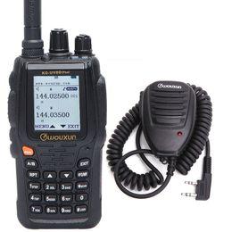2019 micrófono wouxun Wouxun KG-UV8D Plus Banda cruzada VHF UHF Banda dual Cifrado Walkie Talkie Pantalla colorida grande agregar micrófono de altavoz micrófono wouxun baratos