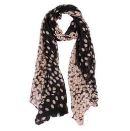 Nouvelle écharpe en mousseline de soie Womens Longue Polka Dot Écharpe Wraps Châle Étole châles doux et écharpes haute qualité foulard femme cadeau # 48 ? partir de fabricateur