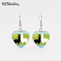 brincos de ovelha Desconto jóias da moda no atacado casal bonito Alpaca aço inoxidável peixe brincos gancho Adorável Sheep animal Dangle Brincos Jóias