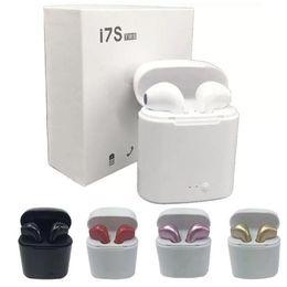 sunglass musik kopfhörer Rabatt i7 tws drahtloser Bluetooth Kopfhörer Earbuds Bluetooth 5.0 Headsets mit Ladebox für iPhone und Android I7S TWS Mini-Kopfhörer