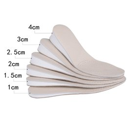 1 Paar Double Sided Cowhide Increase Insoles Erhöhte Einlegesohle im Sport Atmungsaktiv und Proof