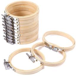 2019 cerchio di ricamo Set di cerchi da ricamo a cerchio Set di ricamo rotondo di bambù Anello a punto croce Anello Fai da te Art Craft Conveniente Cucito per Natale cerchio di ricamo economici