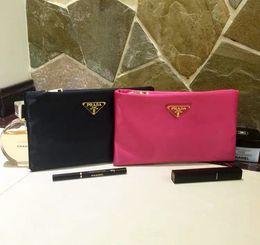 bolsas de cosméticos amarillas casos Rebajas Envío libre liso impermeable bolsa de cosméticos femenina grande transparente lavado gargle bolsa señora moda bolso popular billetera