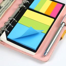 hoja de cuaderno Rebajas B5 A5 A6 notas adhesivas planificador 6 orificios de encuadernación Memo Dairy Divisor pegatina para Loose carpeta de hojas espirales regalos para portátiles