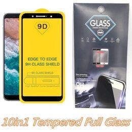 Tam Kapak 9D Temperli Cam Ekran Koruyucu için Iphone XR XS MAX M10 M20 M30 J3 2018 J7 Başbakan P30 Lite LG 10in1 Paketi ile nereden mat kutu kırmızı tedarikçiler
