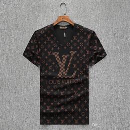 2019 d camisa gris hombre 19 SS Summer T-shirt Brand Designer T-shirt, camiseta de manga corta impresa de alta calidad 100% algodón transpirable