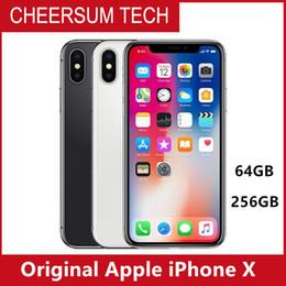 Cellulare originale sbloccato Apple iPhone X iphoneX 4G LTE cellulare 5.8 '' OLED 12.0MP 3G RAM 64G / 256G ROM ID cellulare gratuito DHL da sblocca apple iphone 3g gratis fornitori