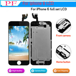 Heimplatten online-Vollbild lcd Für iPhone 6 LCD Ersatzdisplay Komplette Montage Mit Home Button Frontkamera + Rückwand