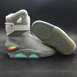 Air Mag Sneakers Chaussures Marty McFly LED Retour vers le futur Allumez les chaussures Hommes Gris Rouge Noir Lueur dans le noir avec des chaussures Box meilleure qualité ? partir de fabricateur