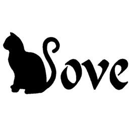 I Love Cats Bumper Sticker Vinyl Decal Kitty Pets Cat Cute Animal Car Heart bc