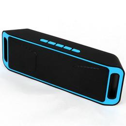 Argentina Altavoz Bluetooth portátil mini altavoz inalámbrico Amplificador Subwoofer estéreo Altavoz TF USB Radio FM Micrófono incorporado Dual Bass SP208 cheap usb mic amplifier Suministro