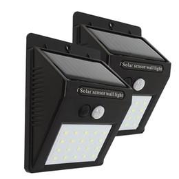 lâmpada led 18w e27 cob Desconto 20 30 48 led alimentado por energia solar levou luzes PIR sensor de movimento da lâmpada de parede levou sensor solar de alta luminosidade à prova d 'água ao ar livre luz do jardim