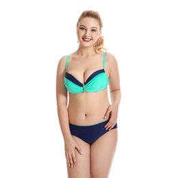 Bikini-mode große größe online-2019 New Sexy Bikini Gathered Multi-Color Damen Split Badeanzug Bikini Plus Size Big Breasts Fashion Bikini Badeanzug