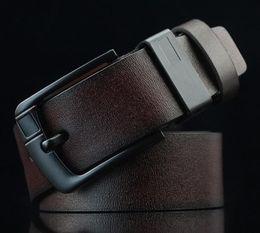 Moda nueva llegada hebilla de aguja cinturón de cuero de PU para hombres cinturones de hombre de diseñador correa masculina para jeans LH055 desde fabricantes