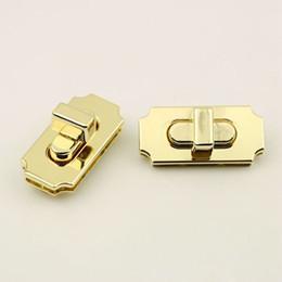 10 pezzi / lotto Pallido bagaglio dorato borse metallo meccanismo quadrato a vite blocco die-casting twist lock accessori hardware da