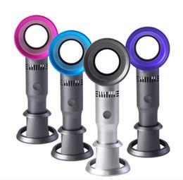 Usb pratico online-Ventilatore Zero9 USB senza ventole Ventilatore portatile ricaricabile senza ventole No Leaf Ventilatore a 3 velocità con indicatore di livello del ventilatore