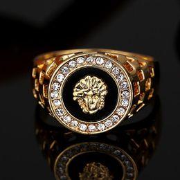 2019 pops ringt Heißer verkauf herren top ring mode hip pop kopf medusa gold farbe silber schwarz männer fingerring für männer frauen günstig pops ringt