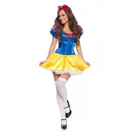 Disfraces de halloween blanco como la nieve adultos online-disfraz de adulto Fantasia Beam Body Princess Dress Carnival Halloween Adulto Colorido Snow White Princess Disfraces