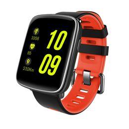 Telefone relogio vermelho on-line-GBB GV68 À Prova D 'Água Esporte Relógio Inteligente Telefone Mate Tela de Toque Bluetooth para iOS Android Telefone, Vermelho