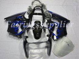 carenagem azul zx6r Desconto OEM Qualidade New ABS kits Carenagens Injection Mold 100% Fit For Kawasaki Ninja ZX6R ZX6R 636 2000 01 02Bodywork definir Blue Flame