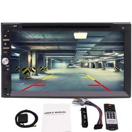 Leitor de dvd duplo chinês on-line-Duplo DIN Capacitiva Touchscreen Car GPS Navegação Player 7 '' Dvd Player Do Carro No Painel de Áudio Do Carro DVD Rádio AUX in / out Stereo Player