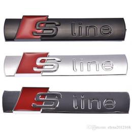 Decalcomanie in metallo online-Metallo 3D Car S linea Sticker Cover per Audi Sline Logo A3 A4 A5 A6 Q3 Q5 Q7 B7 B8 C5 S6 Auto Accessori auto Decal
